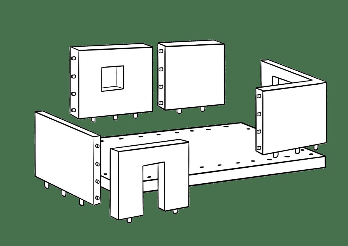 robotergestützte industrielle Fertigungssysteme für Betonfertigteile